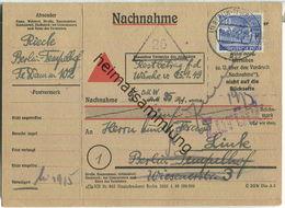 Doppelkarte Berlin - 30 Pf. Bauten Nachnahme 1950 - Berlin (West)