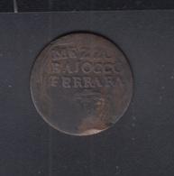 Italia Mezzo Baiocco Ferrara - Monete Regionali