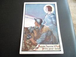 CPA De L'illustrateur Jean Droit - Jeanne D'Arc - Sainte Jeanne D'Arc, Priez Pour Nous - Soldat Guerre Mondiale - Droit