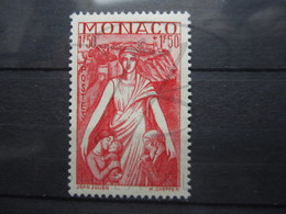VEND BEAU TIMBRE DE MONACO N° 219 , X !!! - Mónaco