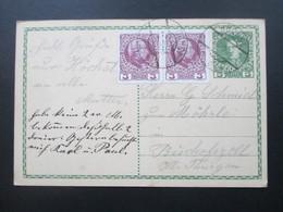 Österreich Ganzsache 1908 Ganzsache Zum 60. Regierungsjubiläum Kaiser Franz Joseph Mit 2 Zusatzfrankaturen Nr. 141 - 1850-1918 Imperium