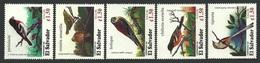EL SALVADOR 1996 MIGRATORY BIRDS ORIOLE KESTREL GROSBEAK WARBLER SET MNH - El Salvador