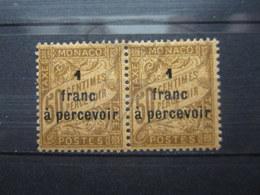 VEND BEAUX TIMBRES TAXES DE MONACO N° 17 EN PAIRE , XX !!! - Postage Due