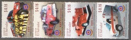 EL SALVADOR 2008 125TH ANNIVERSARY OF FIRE FIGHTERS CARS VEHICLES SET MNH - El Salvador
