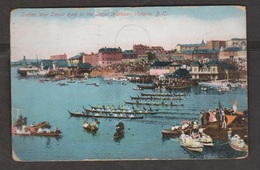 Indian War Canoe Race, Inner Harbour, Victoria, BC - Used 1910 - Corner & Edge Wear - Victoria