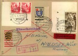 1948, Leicht überfrankierter Einschreiben-Eilbrief Mit 1 Mark Und 24 Pfg. Aus Der Ecke Mit Bogennummern. - Zona Francese