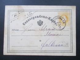 Österreich Ganzsache 1874 ?! Stempel K1 Königswart Nach Falkensee Mit AK Stempel!! - 1850-1918 Imperium
