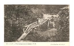 CPA AFRIQUE A.E.F. Pont Rustique Sur Un Ruisseau - Autres