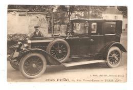 CPA : 75 Paris - Automobile Delage 1924 - 11HP - 6 Place - Strapontins - Jean Henri - 10 Rue Ernest Renan - Voitures De Tourisme
