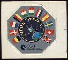 Lot De 2 Autocollants METEOSAT  & GEOS Project / European Space Agency / ESA - GPS/Avionique