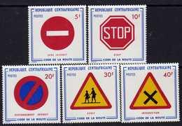 Centrafricaine N °  237 / 41 XX : Code De La Route, Les 5 Valeurs, Sans Charnière,  TB - Centrafricaine (République)