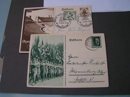 DR  2 Bildkarten 1936  Olympia  Mit SSTund Adolg Aus Königsberg 1937 - Germany