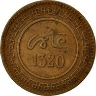 Monnaie, Maroc, 'Abd Al-Aziz, 10 Mazunas, 1902, Fez, TTB, Bronze, KM:17.3,Lec 82 - Maroc