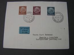 Königgrätz Luftpost Danzig ,  Nice Cv. 1940  Dienstpost BM - Böhmen Und Mähren