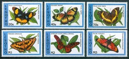 1993 Lesotho Farfalle Butterflies Papillons Fiori Flowers Fleurs Set MNH** B530 - Lesotho (1966-...)