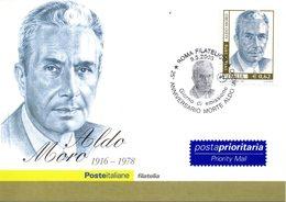 ITALIA 2003 ALDO MORO FIRST DAY CARDS - 6. 1946-.. República