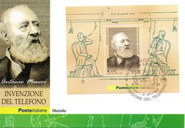 ITALIA 2003 ANTONIO MEUCCI FIRST DAY CARD - FDC