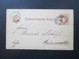 Österreich Ganzsache 1877 Warnsdorf Nach Hainewalde Sachsen. - 1850-1918 Imperium
