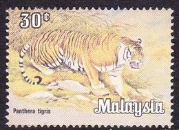 Malaysia SG 190 1979 Wildlife, 30c Tiger, Mint Never Hinged - Malaysia (1964-...)