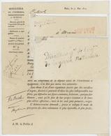 Paris 31.5.1815 Directeur Général De L'Organisation De La Garde Nationale Sénéchal 3416 - Marcofilia (sobres)