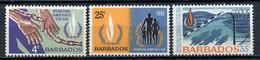 1968 - BARBADOS - Mi. Nr. 277/279 - NH - (CW4755.3) - Barbados (...-1966)