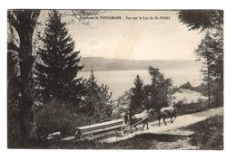 25 DOUBS - PONTARLIER Environs, Vue Sur Le Lac De St-Point, Attelage (voir Descriptif) - Pontarlier