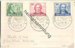 Postkarte Berlin - Kompletter Goethe-Satz Auf Ansichtskarte - Gestempelt Grüne Woche 22.September 1949 - Berlin (West)