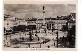 Portugal-Lisboa-Lisbonne-+/-1950-Praça D.Pedro IV-Tram-Tramway-Vintage Car -Fotografia G. &F. - Lisboa