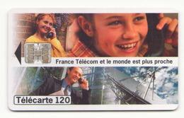 TELECARTE 120 UNITES FRANCE TELECOM ET LE MONDE EST PLUS PROCHE 01/96 - France