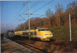 Le TGV Sous Toutes Ses Coutures - Passage D' Un TGV Postal Au PRS De VAUMORT.   (106987) - Trains