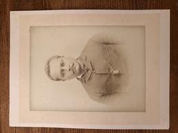 Photo Portrait 2 Type Notable à La Moustache Asiatique Arabe Ou Autre à Identifier Avant 1900 - Photos