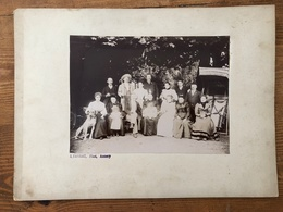Photo D'une Belle Famille Bourgeoise élégante Avant 1900 Par Favrat à Annecy - Photos