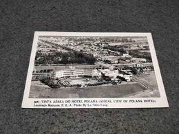 ANTIQUE PHOTO POSTCARD LOURENÇO MARQUES MAPUTO VISTA AEREA DO HOTEL POLANA PHOTO BY LU SHIH TUNG CIRCULATED 1955 - Mozambique