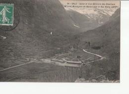 CPA - [09] Ariège > Orlu - Usine Et Vue Générale Des Chantiers Au Fond Montagnes De Baxouillade Et Roc Blanc - France