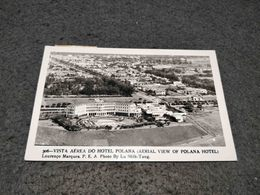 ANTIQUE PHOTO POSTCARD LOURENÇO MARQUES MAPUTO VISTA AEREA DO HOTEL POLANA PHOTO BY LU SHIH TUNG CIRCULATED 1955 Nº2 - Mozambico