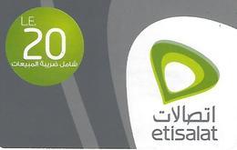 Etisalat 20LE Recharge Phonecard - Egypt - Egypt