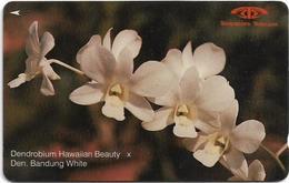 Singapore - Dendrobium Hawaiian Beauty, Orchids, 11SIGC, 1991, 630.000ex, Used - Singapur