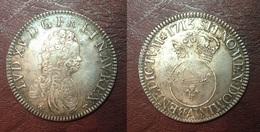 FRANCE - Louis XV - Ecu Vertugadin 1715 A - Magnifique Réformation Sur écu Aux 3 Couronnes ! - 987-1789 Royal