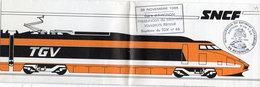 Dépliant -26  Novembre 1983 - Gare D' Avignon - Inauguration Du Batiment Voyageurs Rénové Bapteme Du TGV N° 66  (106992) - Railway
