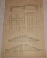 Plan De La Passerelle De Grenelle. Chemin De Fer De La Ceinture De Paris. 1890 - Public Works