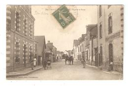 CPA 44 SOUDAN Rue De La Poste Animation Attelage 1919  Peu Commune - Sonstige Gemeinden