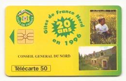 TELECARTE 50 UNITES GITES DE FRANCE NORD 06/96 - Frankreich