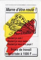 Affichette CGTrains - Marre D' Etre Roulé - Pour L' Avenir  -  (106996) - Affiches