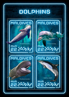 MALDIVES 2018 - Dolphins. Official Issue - Dolfijnen
