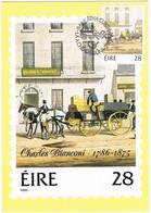 28978. Tarjeta Maxima BAILE ATHA CLIAT (Eire) Dublin 1986. BIANCONI Transport Revolution - Cartoline Maximum