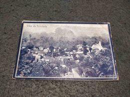 ANTIQUE POSTCARD PORTUGUESE SAO TOME AND PRINCIPE VILLA TRINDADE CIRCULATED 1913 - Sao Tome And Principe