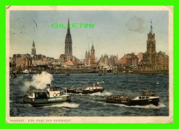 HAMBURG, GERMANY -  ELBE, STADT UND KAISERHOFT - ANIMATED WITH SHIPS - TRAVEL - - Allemagne