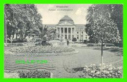 WIESBADEN, GERMANY - CURHAUS MIT BLUMENGARTEN - ANIMATED - TRAVEL IN 1912 - - Wiesbaden