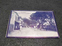 ANTIQUE POSTCARD PORTUGUESE SAO TOME AND PRINCIPE CIDADE PRAÇA GOVERNADOR MELLO CIRCULATED 1913 - Sao Tome And Principe