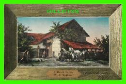 ATTELAGES DE CHEVAUX - A DUTCH FARM - W. C. NAKKEN - TRAVEL IN 1908 - D.P.G.M. - - Attelages